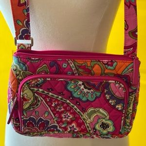 Colorful Quilted Bag w Front Wallet